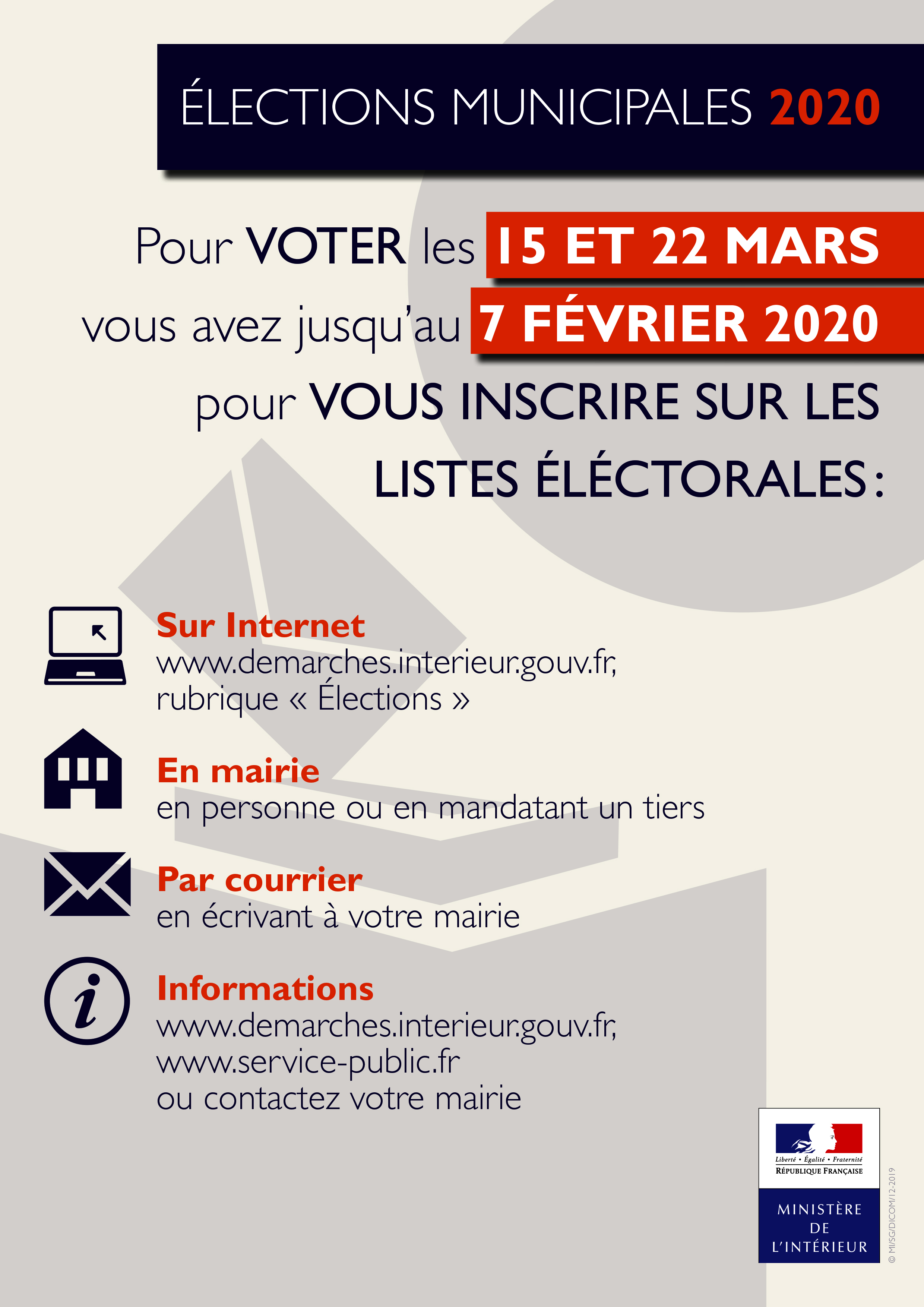 Impression Inscription listes electorales affiche A4
